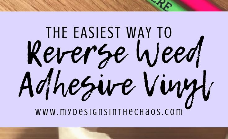 Reverse Weeding Adhesive Vinyl
