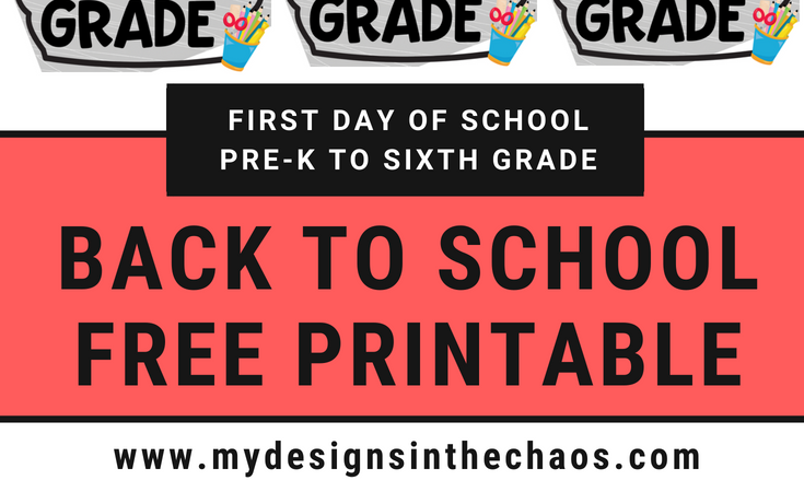 Back to School Free Printable