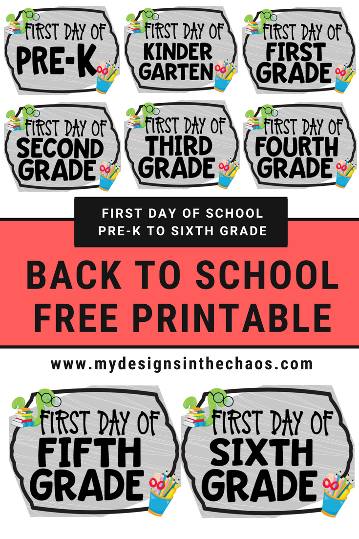 Back To School Free Printable My Designs In The Chaos