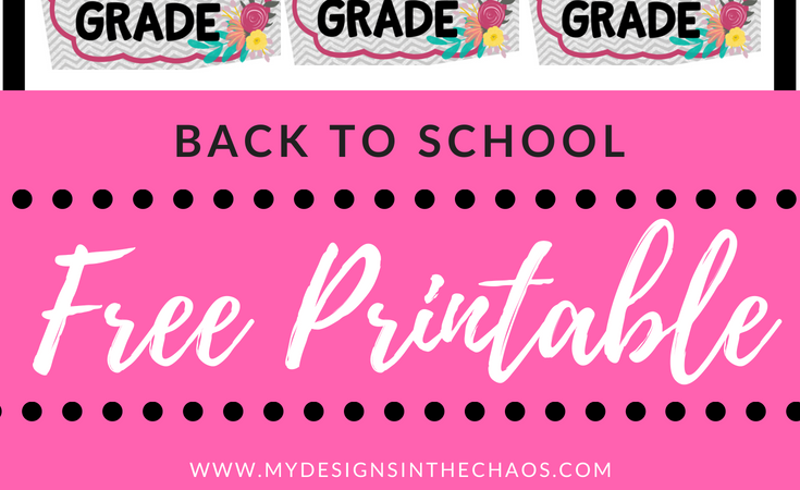 Back to School Printable – Girl