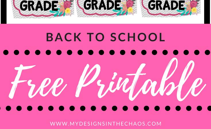 Back to School Printable – Girl