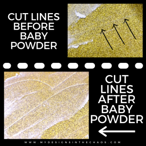 Before and After of Baby Powder Weeding hack