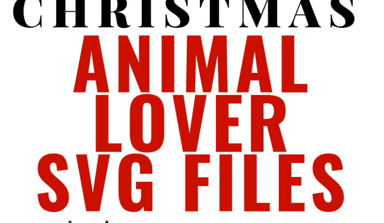 Free Animal Lover Christmas SVG Files