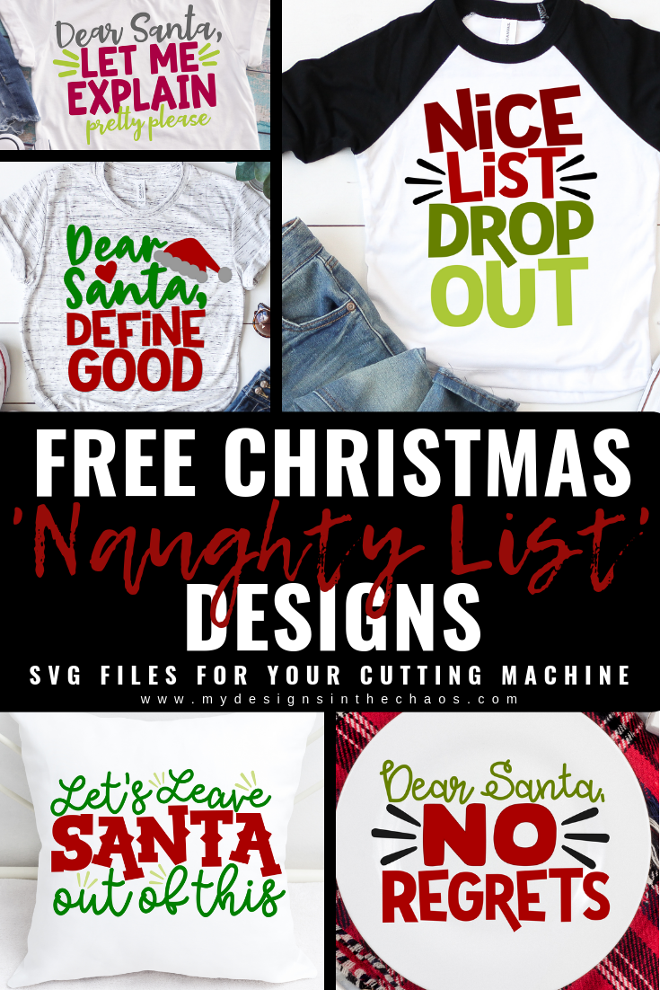 Christmas Svg Files Naughty List My Designs In The Chaos