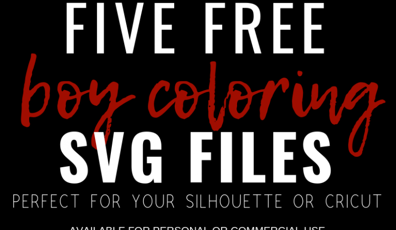 Free Boy Coloring Book SVG Files