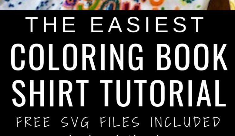 DIY Coloring Book Shirt Tutorial