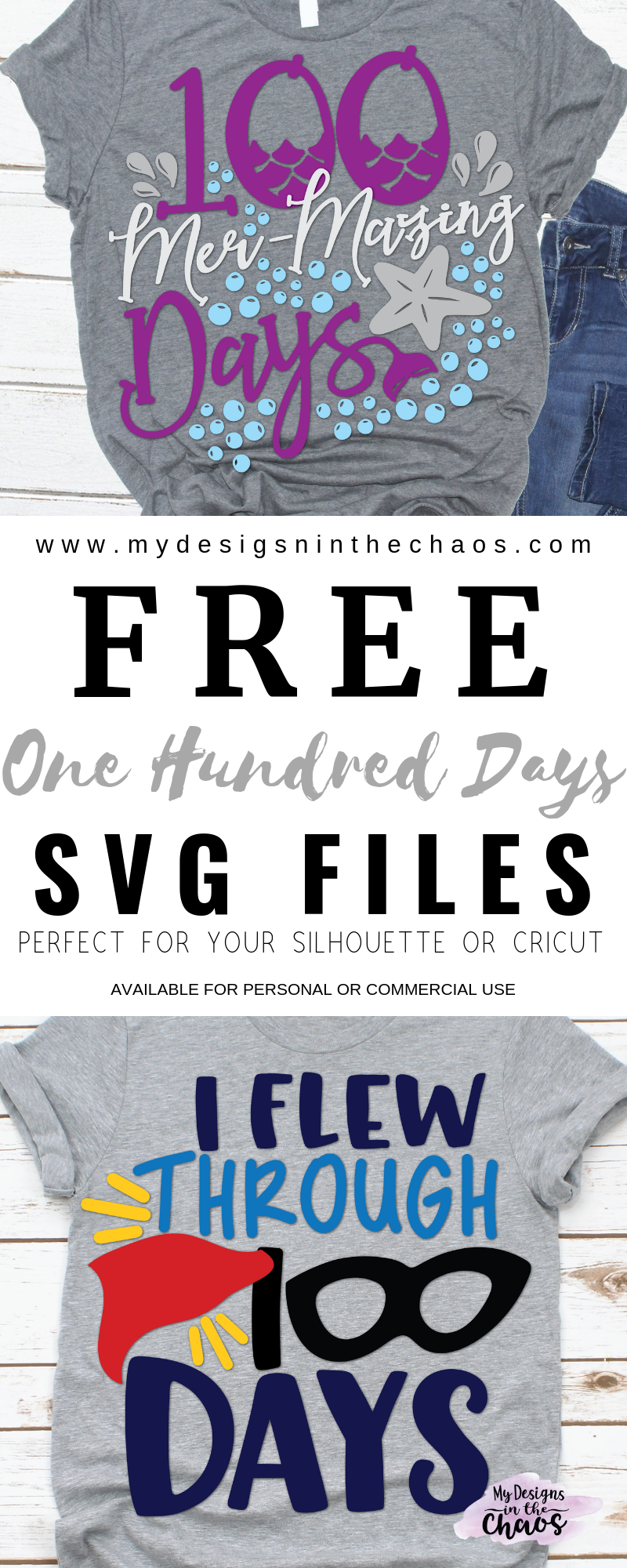 Download Free 100 Days of School SVG Designs - My Designs In the Chaos