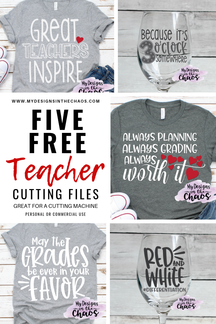 Free Teacher Svg Cutting Files My Designs In The Chaos