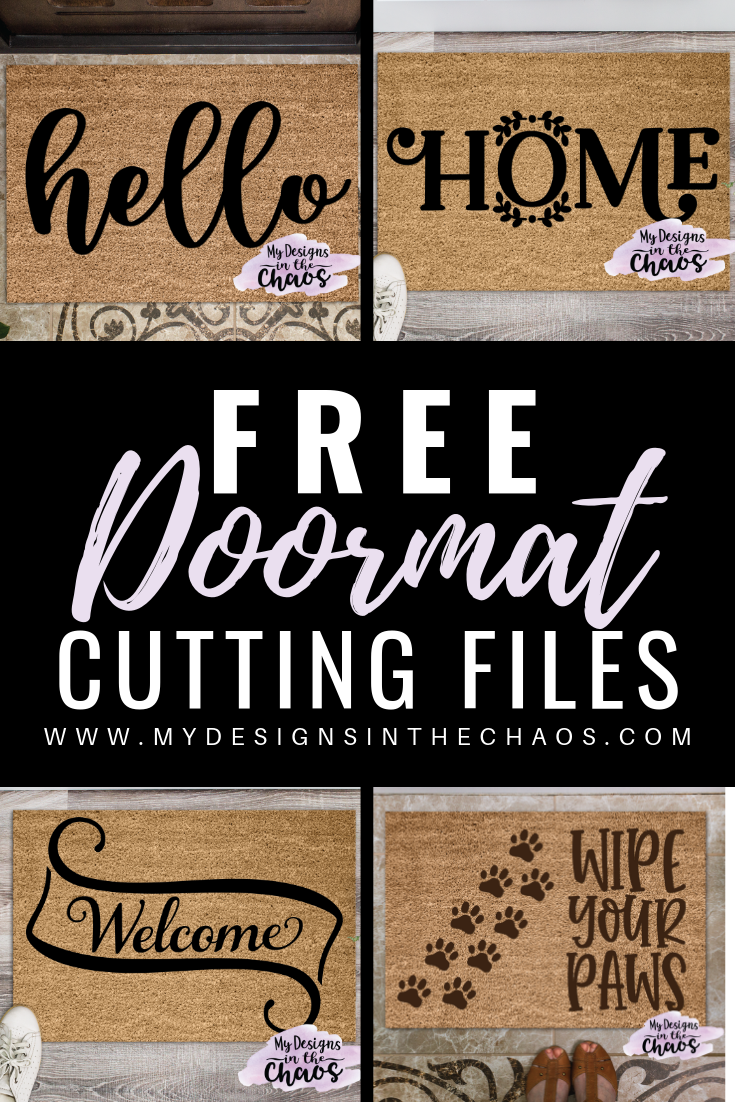 Free Doormat SVG Cutting Files - My Designs In the Chaos