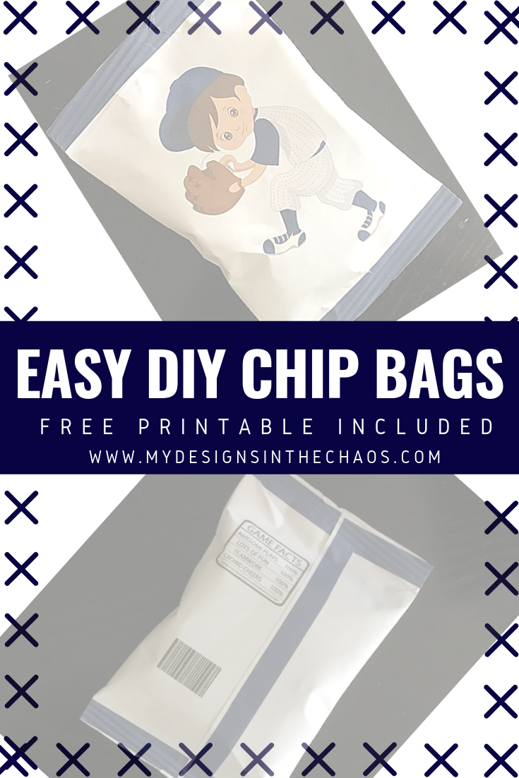 photograph about You Re All That and a Bag of Chips Printable titled Potato Chip Bag Protect Guidebook - My Patterns In just the Chaos