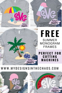Free Summer Monogram Frame SVG Designs - My Designs In the Chaos