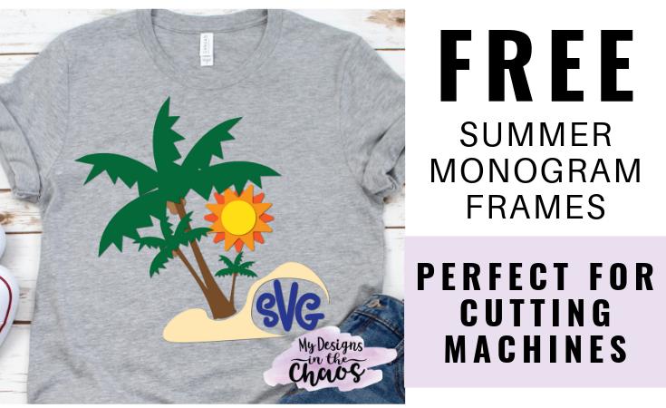 Free Summer Monogram Frame SVG Designs