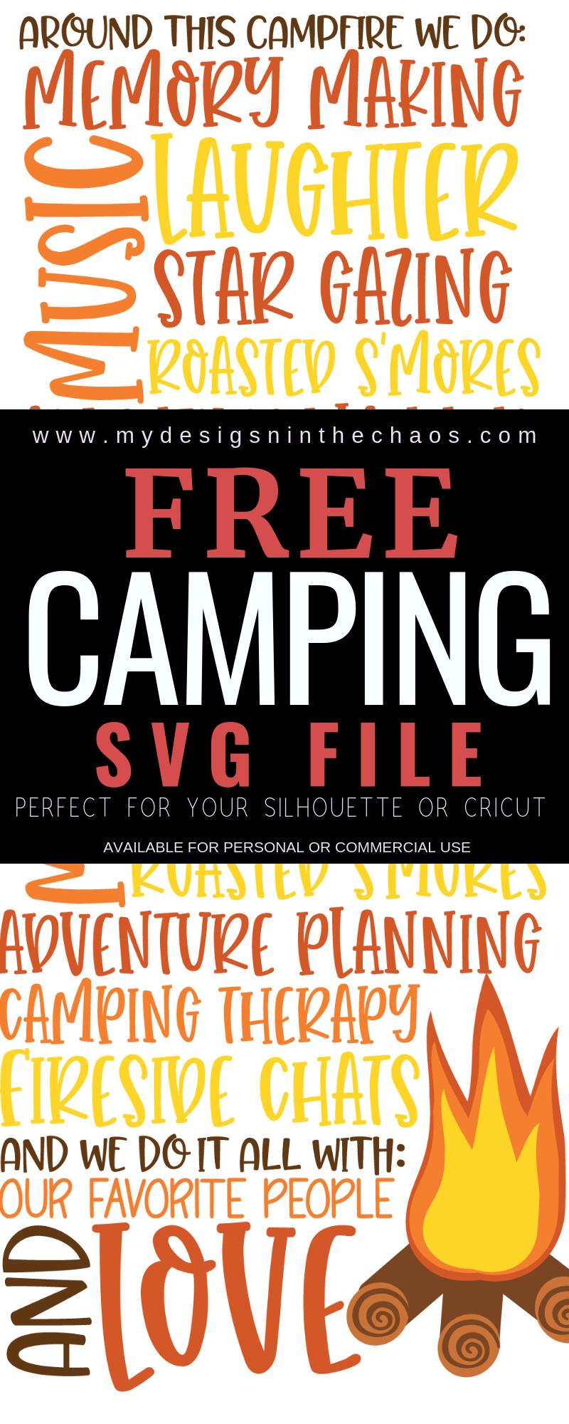 Free Camping Svg My Designs In The Chaos