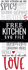 Free Kitchen Svg My Designs In The Chaos