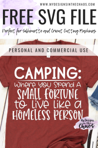 Free Camping Svg File For Silhouette Or Cricut My Designs In The Chaos