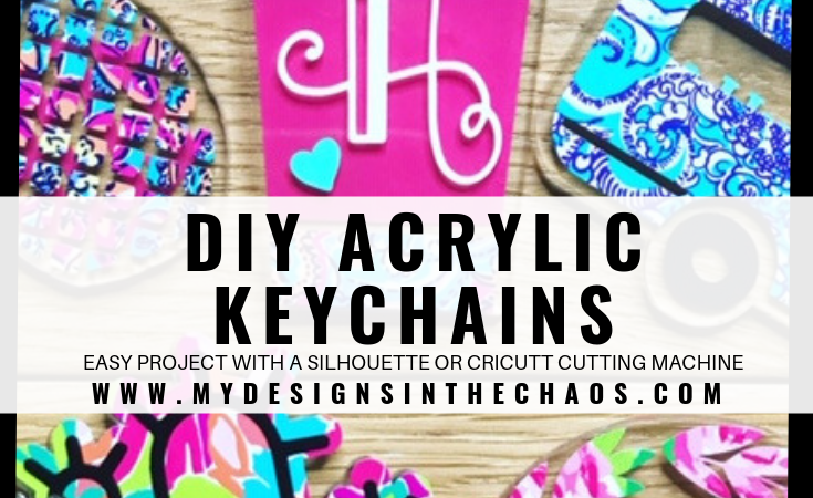 DIY Acrylic Key chain with Adhesive Vinyl