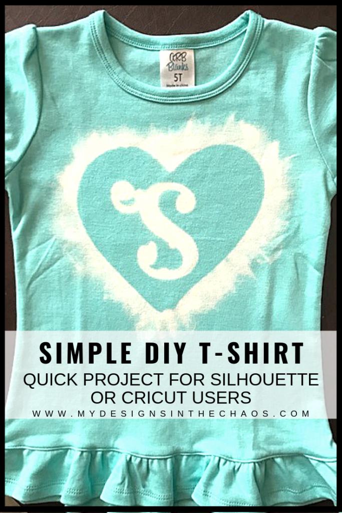 DIY shirt with bleach