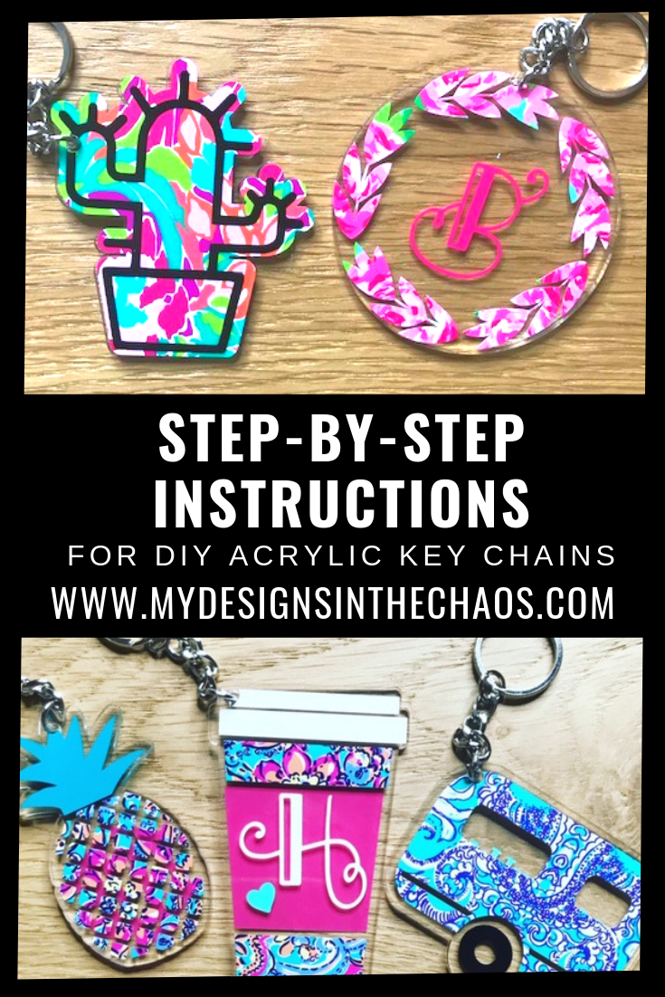 DIY acrylic key chain