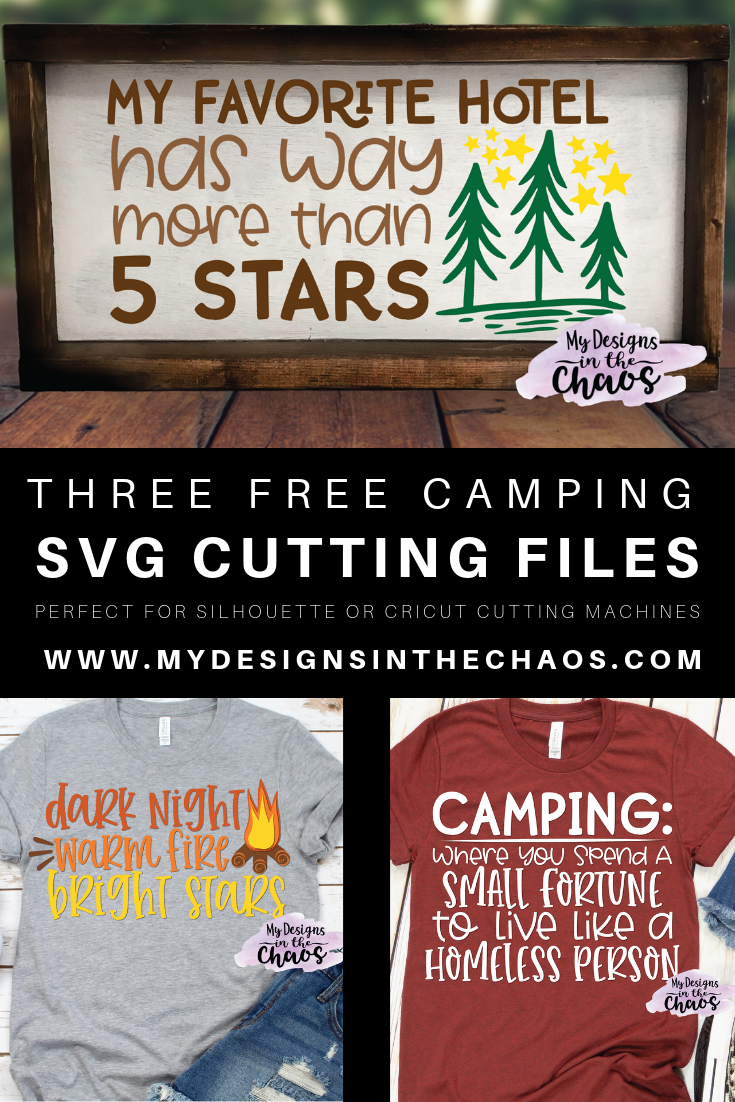 free camping svg file for silhouette or cricut