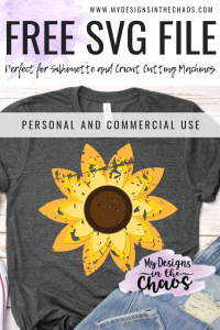 Free Sunflower Svg My Designs In The Chaos