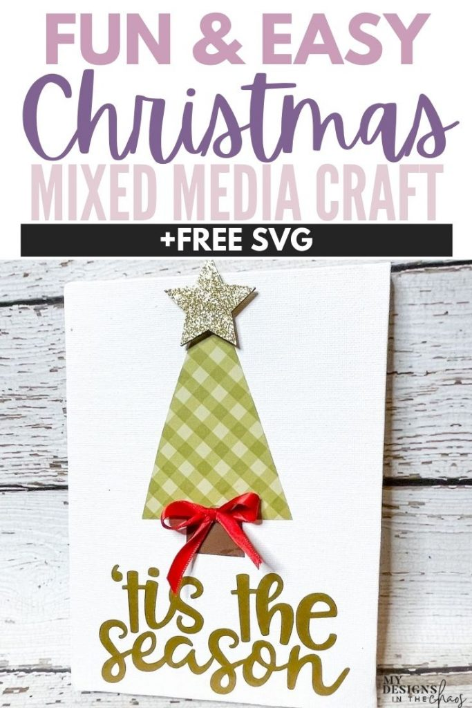 Christmas mixed media craft