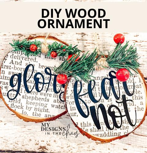 diy wood ornament