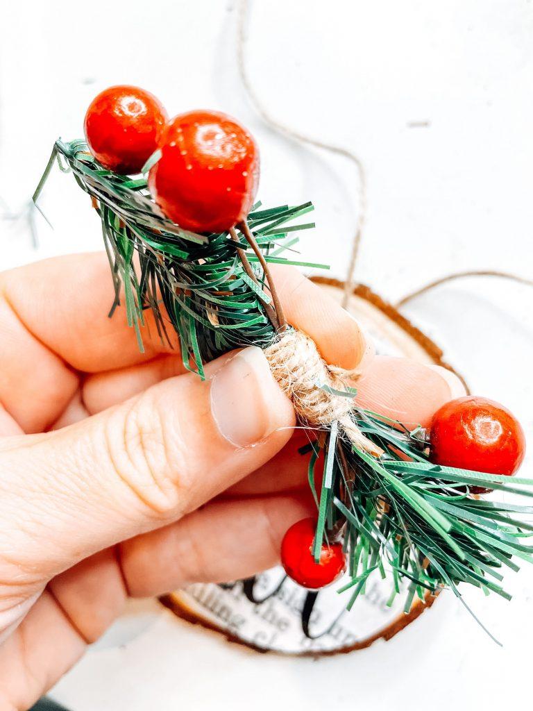 DIY wood ornament garland