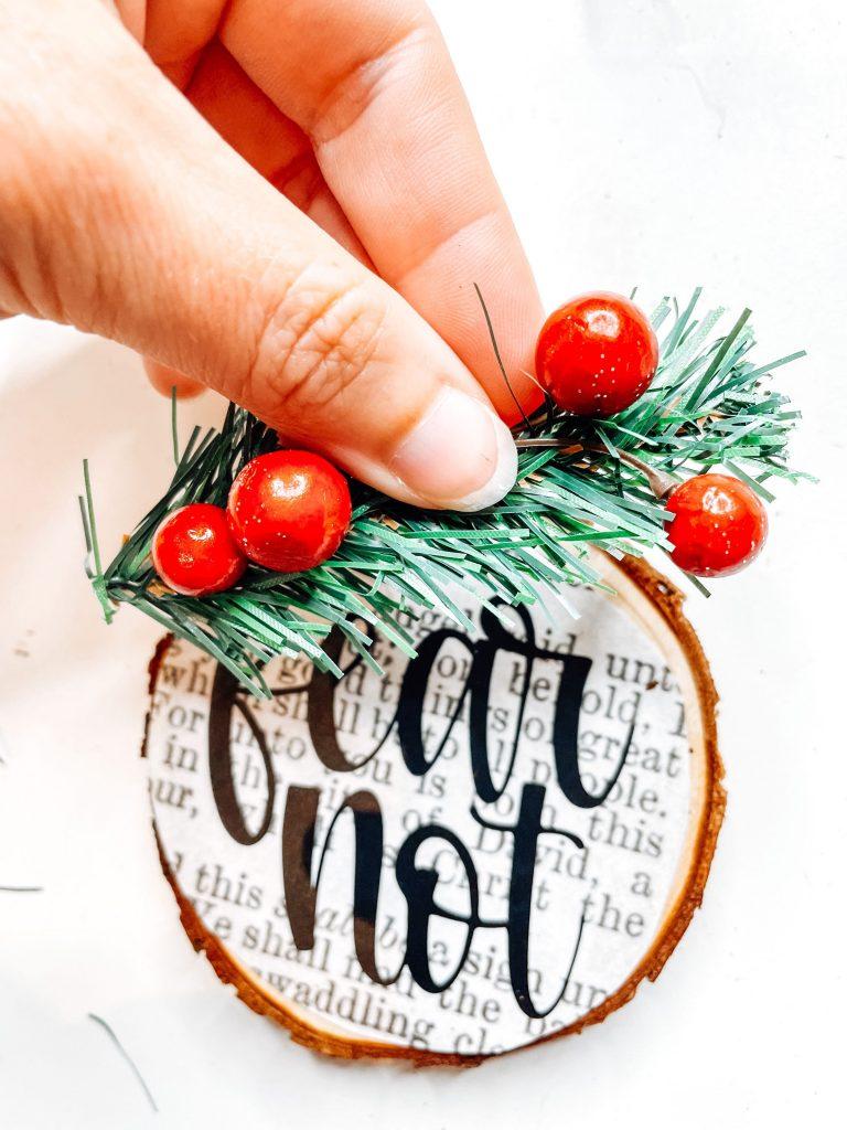 diy wood ornament fear not