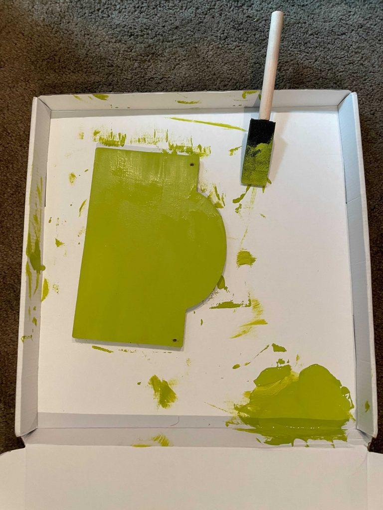 feelings chart paint the wood board