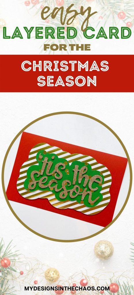 easy layered card for the christmas season