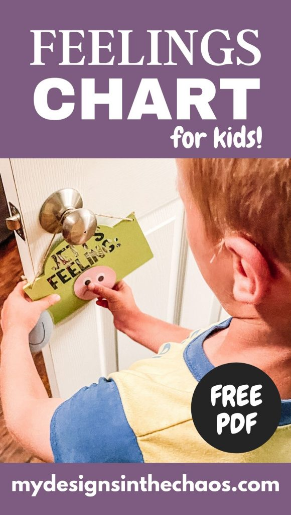 feelings chart for kids with free pdf