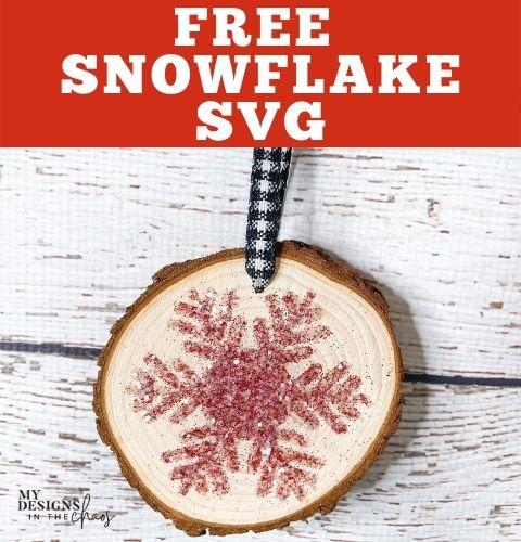 free snowflake svg wood slice craft