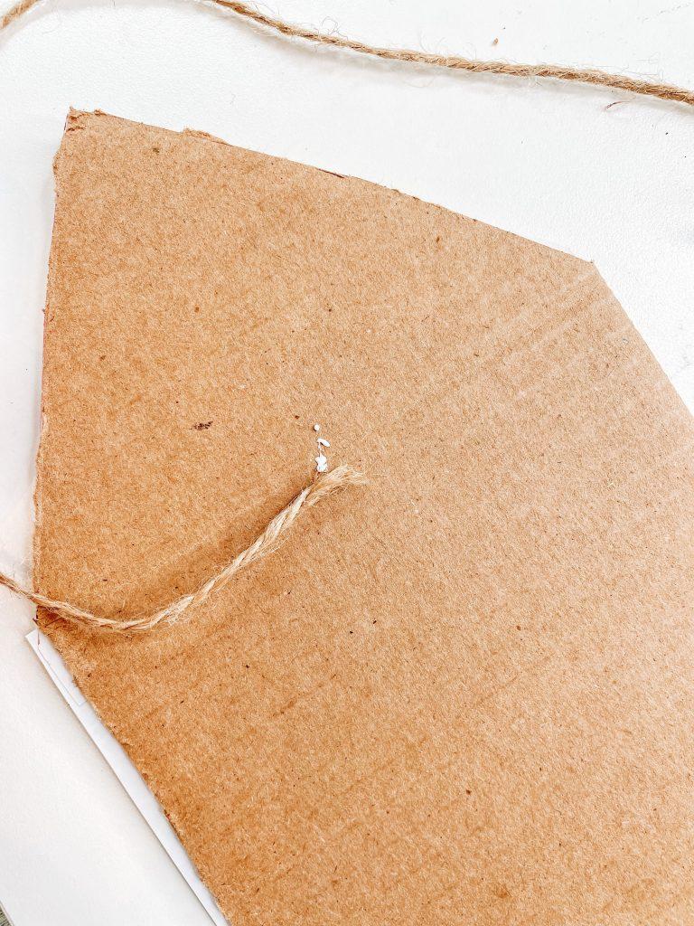 cut cardboard for pencil craft
