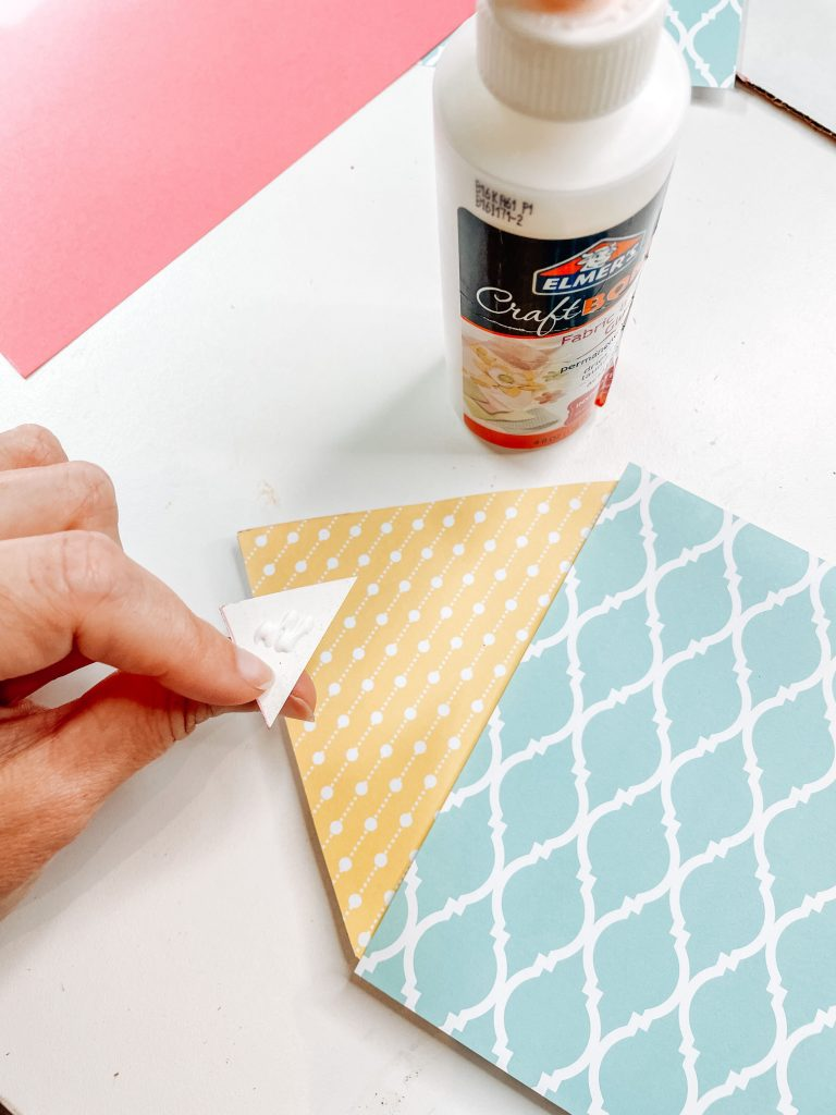 cut triangle for the tip of the pencil craft