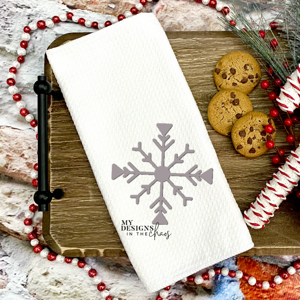 snowflake svg for kitchen towel
