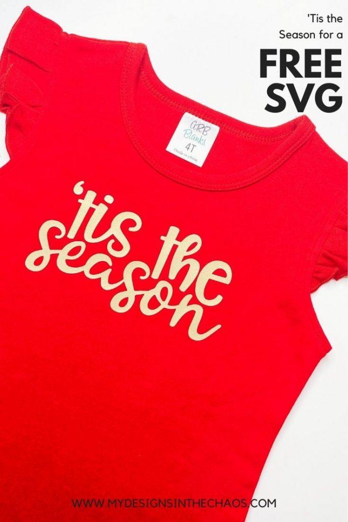 tis the season shirt free svg